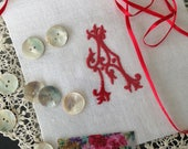 Quilting Squares, Embroidered Monograms, Embroidered Initials, UK Seller, Sewing Supplies, Personalised Letters