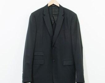 Vintage Pringle of Scotland Men's Suit Jacket Blazer Ink Blue Medium 38R