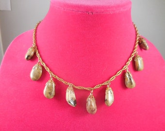 Vintage Chalcedony Nugget Necklace
