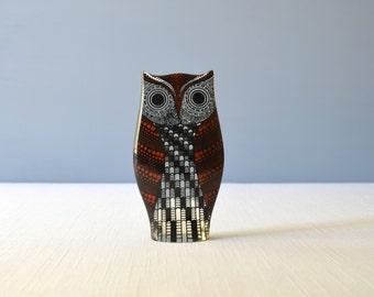 Vintage Large Abraham Palatnik Lucite Red Owl Figurine