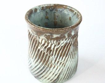 Ceramic Tumbler - Ceramic Mug - Handleless Mug - Decorative Mug - Coffee Mug - Pottery Mug -