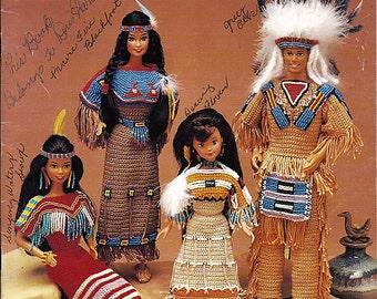 Native American Fashion Dolls Crochet Pattern Annies Attic 878303