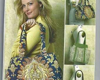 Totes and cell Phone Case / Original Butterick Uncut Sewing Pattern B5438