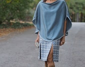 Hand dyed silk Cape. One ...