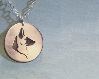 German Shepherd Necklace - Dog Breed Necklace - GSD - Dog Pendant - Alsatian - Canine Necklace - Good Boy - Doggo - Pupper - Woofer