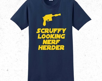 Scruffy looking nerf herder star wars tshirt