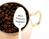 Good Morning Handsome. Hand Stamped Spoon. Gift Idea for Husband. By Milk & Honey.