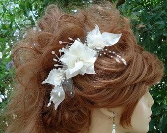 Wedding Hair Comb, Ivory Hair Comb, Bridal Hair Comb, REX17381