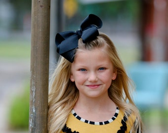 Black Extra Large Hair Bow - Extra Large Hair Bow, Black Hair Bow, Big Hair Bows