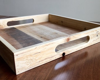 Reclaimed Pallet wood Serving Tray, Wooden Serving Tray, wood tray