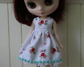 On Hold - Middie Blythe Dress and acrylic cardigan.