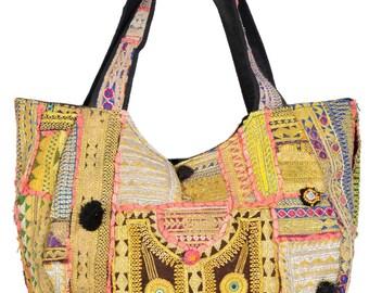 Vintage Banjara Hand Bag Hobo Tote Ethnic Tribal Gypsy EO17