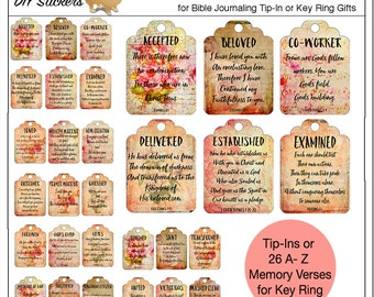 SALE: Printable Who I am In Christ ID Bible Journal Cards, Washi Tape into your Bible or Put on Key Ring as Gift