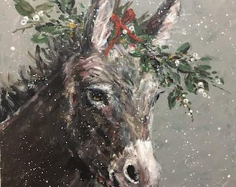 Mary Beth the Christmas Donkey