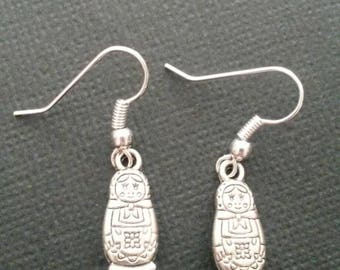 Silver Babushka Earrings