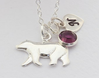 Silver Polar Bear necklace. Select up to 2 charms, Sterling Silver Polar Bear necklace, Polar bear Jewelry. choose Italian chain