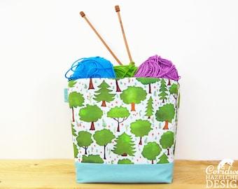 Woodland Trees Fabric Storage Box, Storage Basket, Fabric Basket, Fabric Organiser, Storage Bin