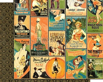"""Sale-Graphic 45 """"Vintage Hollywood-Tinseltown"""""""