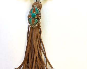 Turquoise Mala with Afghan Tribal Ring