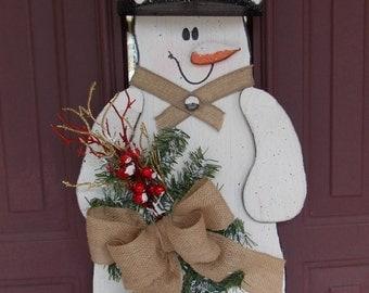 Snowman Welcome Door Hanger