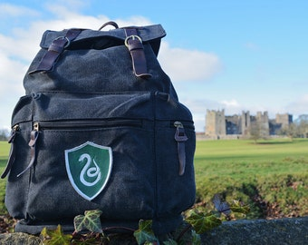Slytherin Backpack 3 badge choices