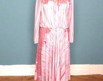 Vintage 70's Midi Dress UK Size 12