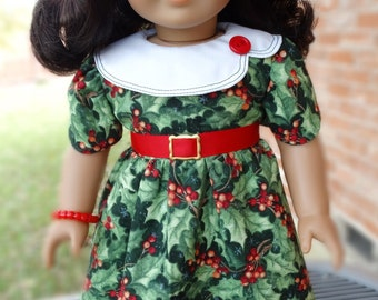 """18"""" Doll Clothes 1930's Style Christmas / Holiday Dress Fits American Girl Kit, Ruthie"""