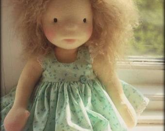 "Waldorf inspired doll called Ella , 14"" tall"