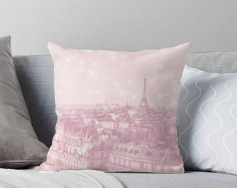 Paris throw pillow - Paris, Pastel home decor, Eiffel Tower