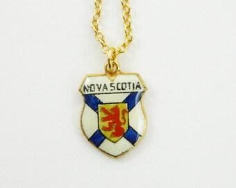 Nova Scotia Charm Necklace - Nova Scotia Charm - Canada 150 Necklace