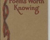 Vintage Poems Worth Knowing Poetry Book
