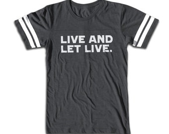 Live And Let Live Vintage Sport T Shirt - Retro Fashion - 70's & 80's Tee