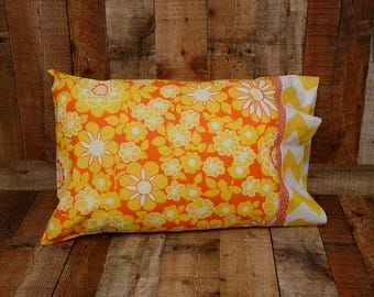 Summer Pillowcase - Standard Pillowcase - Summer Bedding - Bedroom Decor - Floral Pillowcase - Pillow Cover - Mother's Day Gift