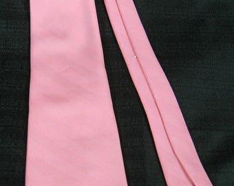 Vtg 60s-70s ~LILY DACHE'~ Silk Herringbone weave Necktie Cravat