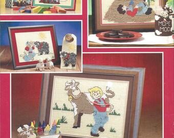 Nursery Rhymes Plastic Canvas Pattern Book, Wall Art, Beverage Holder, Tote Bag, Crayon Holder, Door Hanger, Old MacDonald, Woman In Shoe