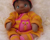 RESERVED FOR MARTINIQUE!  Noni, a Soft Cloth Baby Doll, Handmade and Waldorf Inspired