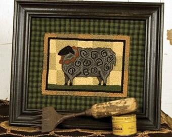 """Sheep Punch Needle Pattern - Punchneedle Embroidery Pattern """"Grand Champion"""" #TTB 653"""