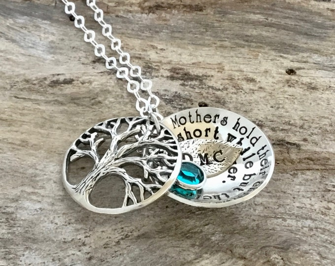 Family Tree Necklace | Sterling Silver Family Tree Jewelry | Family Tree Gift | Family Necklace | Holiday Christmas Gift
