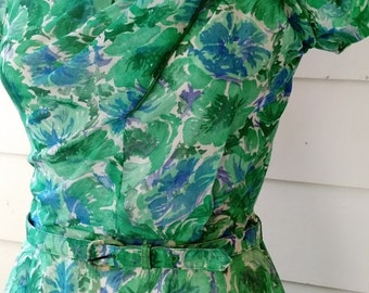 1950's Watercolor Dress - SM