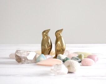 Vintage Brass Penguin Figurine