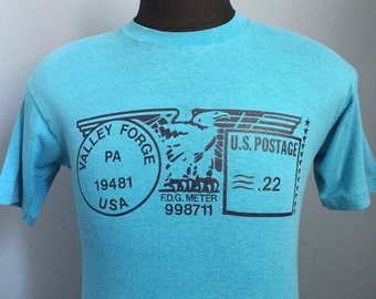 80s Vintage Pennsylvania Valley Forge US Postage postal stamp T-Shirt - SMALL
