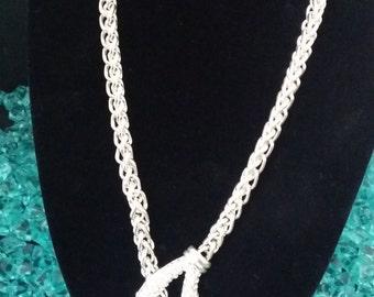 Silvertone Rhinestone/Crystal Necklace & Earring Set