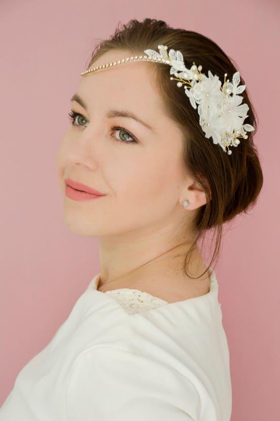 Bridal Headpiece - Wedding Hairband - Wedding Hair Accessories - Blossom Hair Vine - Bridal Hair Pieces - Hair Jewelry - Swarovski Hairband