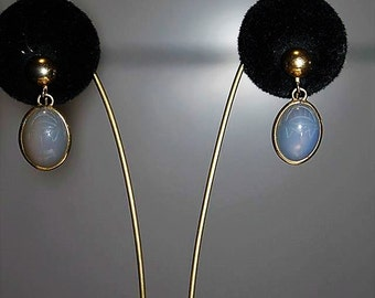 SALE! Antique Edwardian 12K Gold Filled Exquisite Moonstone Scarab Earrings ED