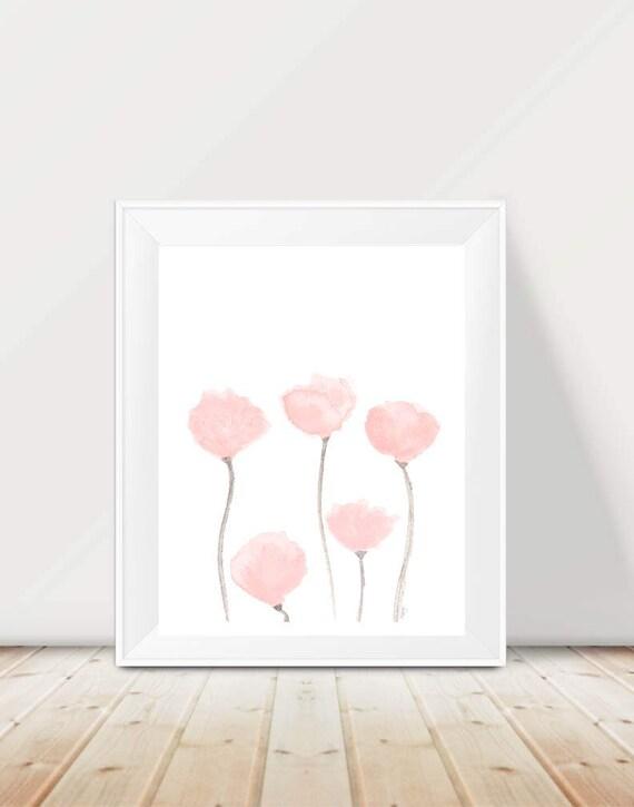 Blush Watercolor Tulip Print, 11x14
