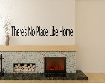 There's No PlaceLike Home-Vinyl Wall Decal Lettering Dining Room Kitchen Quote-Made in America