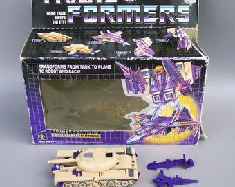 Vintage G1 Transformers Blitzwing 100% Complete Plus Original Box