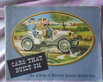 "Vintage Booklet ""Cars That Built GM"", An Album of Historic General Motors Cars, Celebrating 50,000,000 GM Automobiles Built"