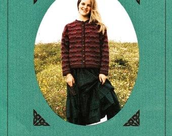 A Scottish Garland Knitting Pattern Book featuring Alice Starmore Knitting Yarns - RARE 1993 Womens Knit Fashions Patterns Knitting Supplies