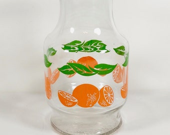 Anchor Hocking Glass Orange Juice Carafe